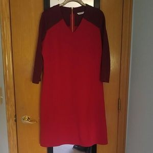 Liz Claiborne size red colorblock knit dress EUC